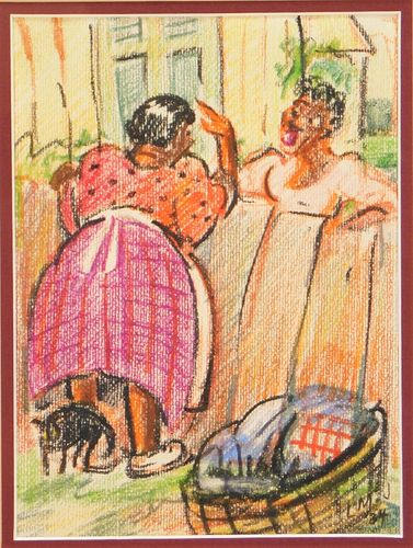 Lois Mailou Jones Backyard Gossip Illustration
