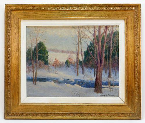 George Gardner Symons Winter Landscape Painting