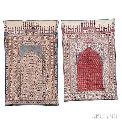 Two Palimpore Prayer Textiles