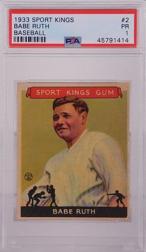 1933 Sport Kings Babe Ruth #2 PSA 1 Baseball Card