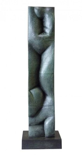 Vertical Landscape II Bronze Sculpture by Tanya Ragir