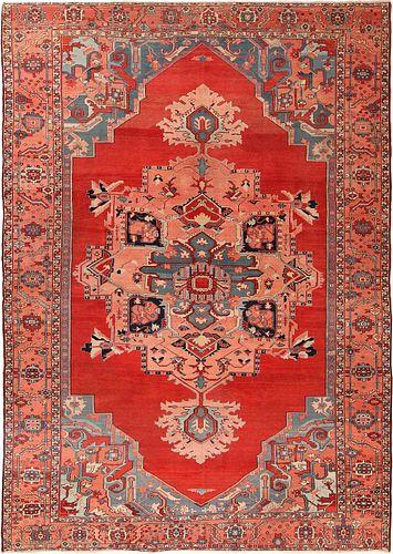 ANTIQUE PERSIAN SERAPI  CARPET ,9 ft 2 in x 13 ft