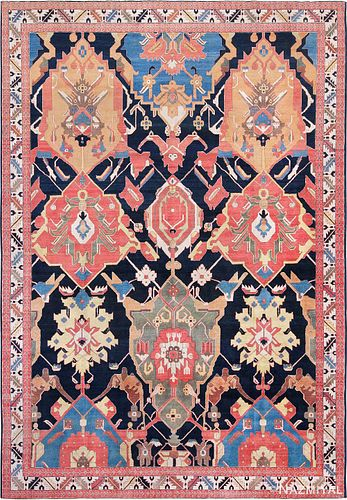 ANTIQUE PERSIAN PETAG TABRIZ CARPET, 9 ft 9 in x 14 ft 2 in
