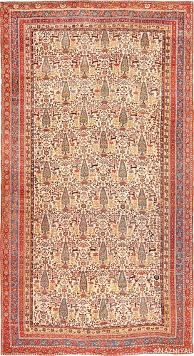 OVERSIZED ANTIQUE PERSIAN TRIBAL QASHQAI RUG ,12 ft 8 in x 24 ft