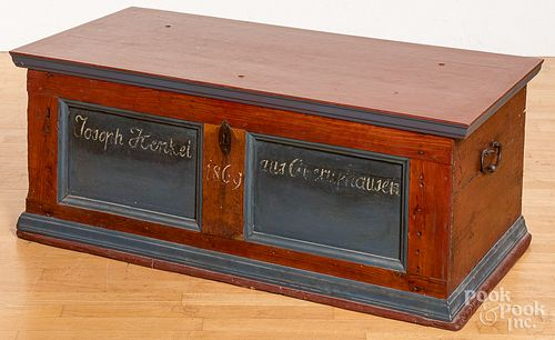 Continental painted oak blanket chest