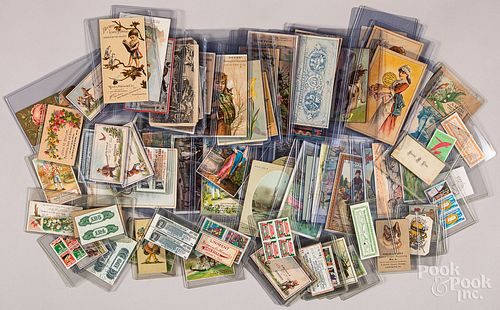 Collection of postcards, advertising cards, etc.
