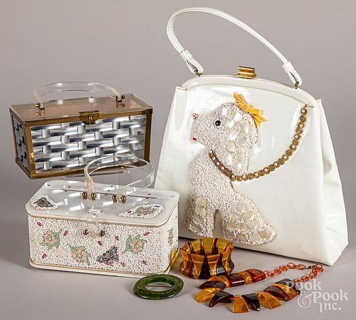 Three vintage purses