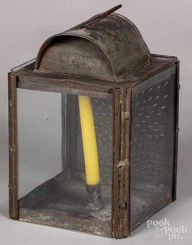 Punched tin carry lantern, 19th c.