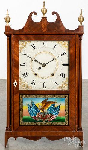Samuel Terry Federal pillar and scroll clock