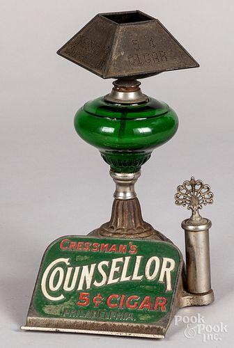 Cressman's Counsellor 5-Cent Cigar lighter lamp