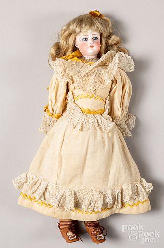 French bisque socket head fashion doll