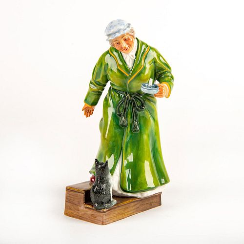 Royal Doulton Survey Sample Figurine, Lady With Cat