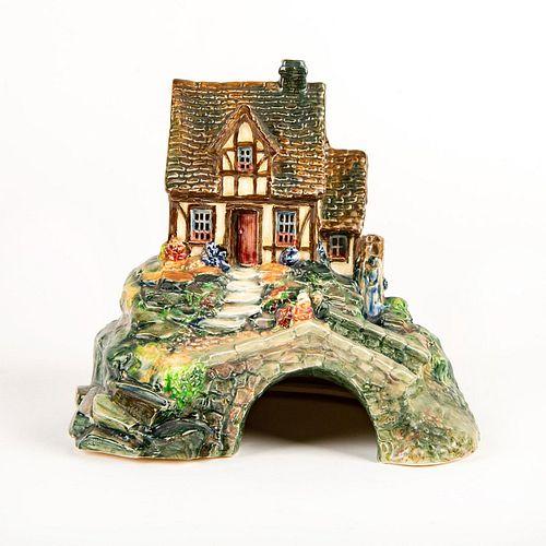 Royal Doulton Figure Group, Old Mill Cottage Pastille Burner
