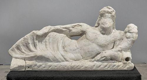 Roman Marble Fountain Feature of Tiberinus