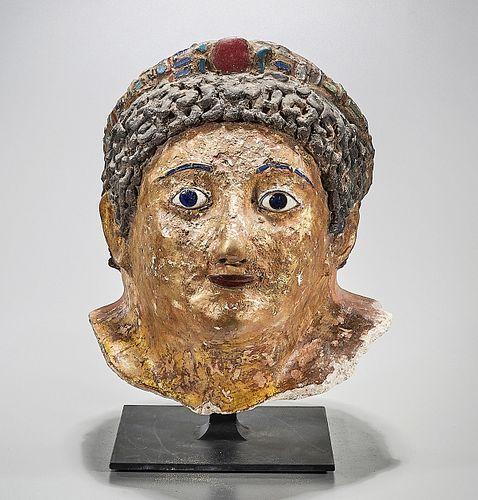 Huge Egyptian, Roman Period, Plaster Mummy Mask