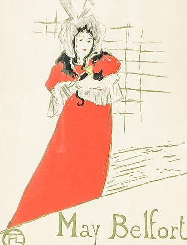 Henri de Toulouse-Lautrec Lithograph May Belfort