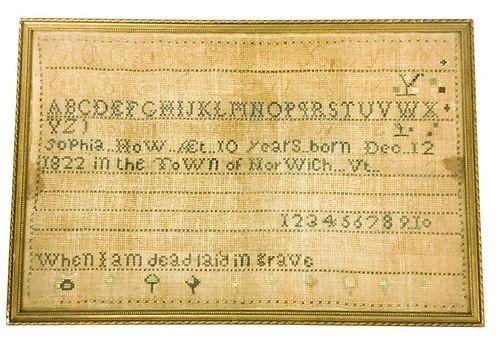 1832 Needlepoint Sampler