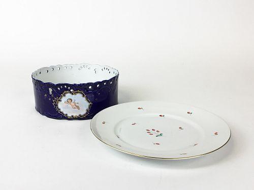 Herend plate,  Austrian fruit bowl.