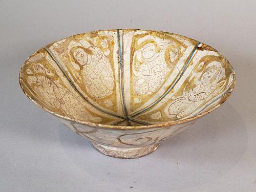 Kashan Lustreware Pottery Bowl, Persia