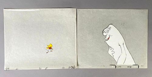 Animation Cels, White Monster and Speedy Gonzalez