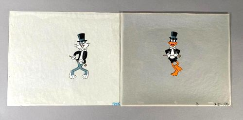 Bugs Bunny and Daffy Duck In Tuxedos, Animation Cels