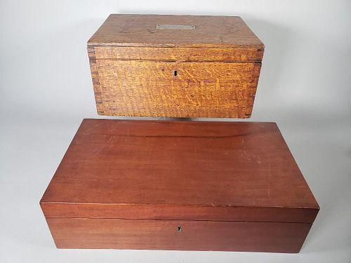 Two Antique English Boxes, 19thc.