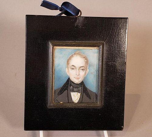 English Portrait Miniature, 19thc.