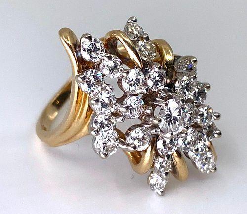 Fancy Diamond Cocktail Ring