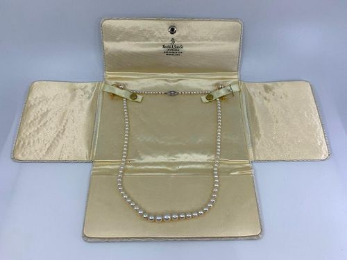Pearl Necklace and Earrings Suite