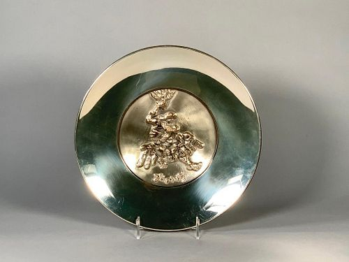 Jacques Lipchitz Silver and Bronze Salver