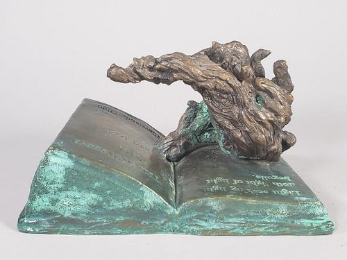 Rowfant Club Bronze Candlestick by Sandro Bonaiuto