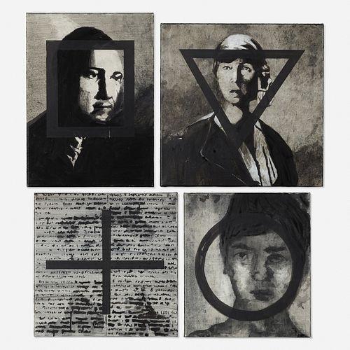 Melissa Gordon, Sympathetic Portrait I-V (four works)