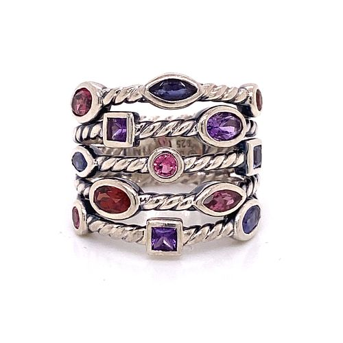 DAVID YURMAN Multicolor Silver Ring