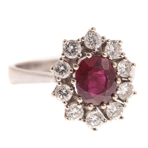 A 2.02 ct Burmese Ruby & Diamond Ring in 18K