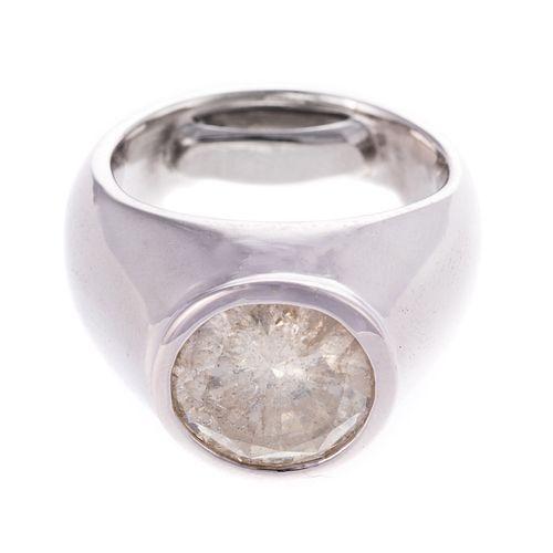 A 5.07 ct Bezel Set Diamond Ring in 14K