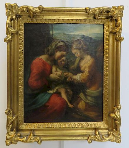 Oil On Canvas, Afr Correggio Italian, 1489- 1534