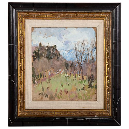 "Leon Gaspard. ""Springtime in the Pyrenees"" oil"