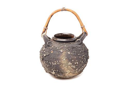 ISKANDAR JALIL   Pottery - Pot with Rotan Handle