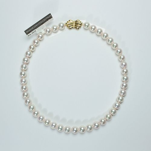 A JAPANESE TOP QUALITY AKOYA PEARLSNECKLACE