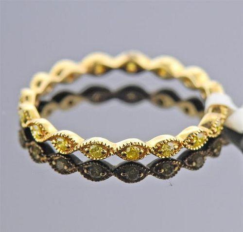 14K Gold Fancy Diamond Eternity Band Ring