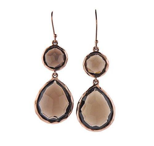 Ippolita Silver Smoky Quartz Drop Earrings