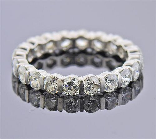 Platinum 2.00ctw Diamond Eternity Band Ring