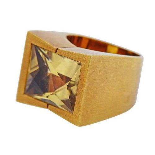 Antonio Bernardo Citrine Gold Ring