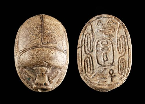Egyptian Second Intermediate Steatite Scarab for Sheshi