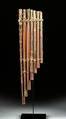 Beautiful Nazca Reed & Textile Pan Pipes