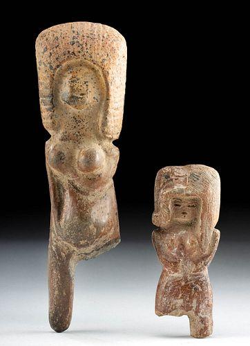 Pair of Valdivian Terracotta Venus Figures