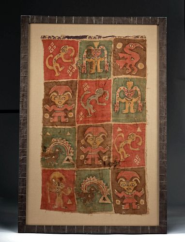 Stunning / Large Chancay Painted Textile