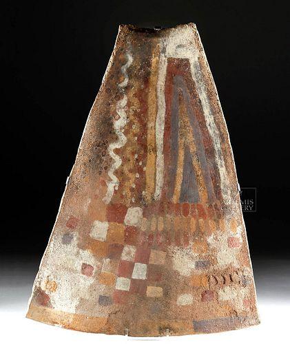 Inca Chucu Painted Clay Plaque - Geometric Motifs