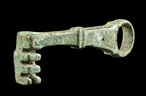 Roman Lead Key Ring - Wearable as Pendant!