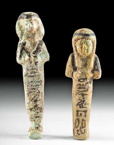 Egyptian Third Intermediate Faience Ushabtis (2)
